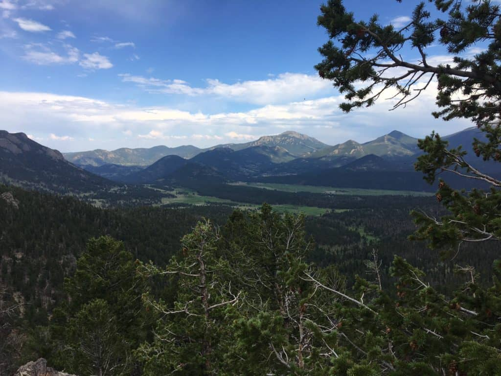 One of the gorgeous, expansive views from the Trail Ridge Road in Rocky Mountain National Park